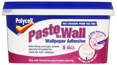 Polycell Paste the wall Ready to use Wallpaper adhesive 4.5kg | Departments | DIY at B&Q