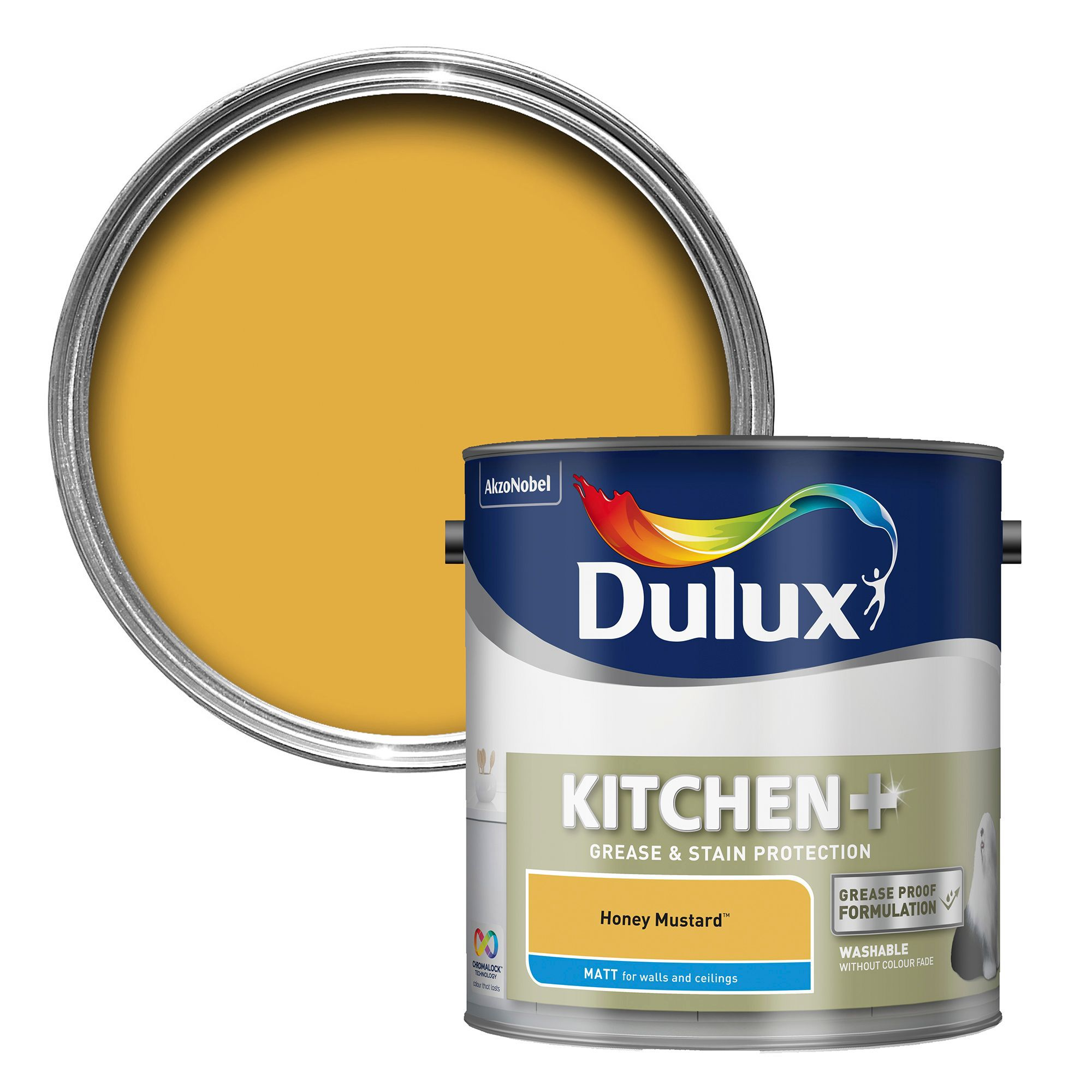 Mustard Color Paint For Kitchen Dulux Kitchen Honey Mustard Matt Emulsion Paint 2 5l Departments