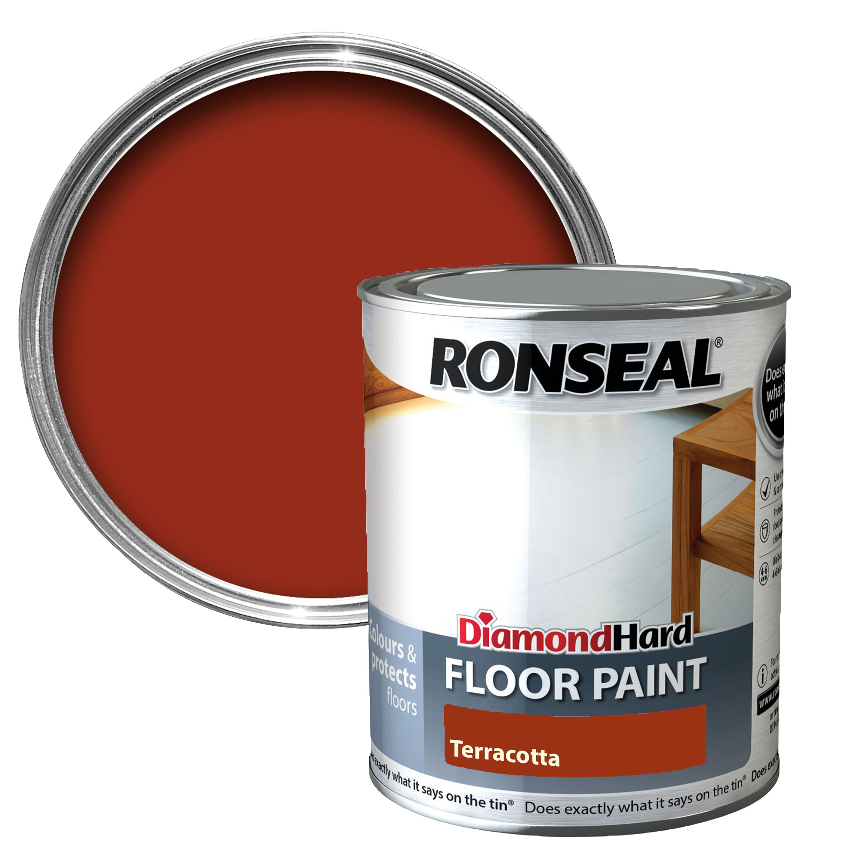 Ronseal Diamond Terracotta Satin Floor Paint0 75l Departments Diy At B Q - Home Depot Garden Furniture Clearance
