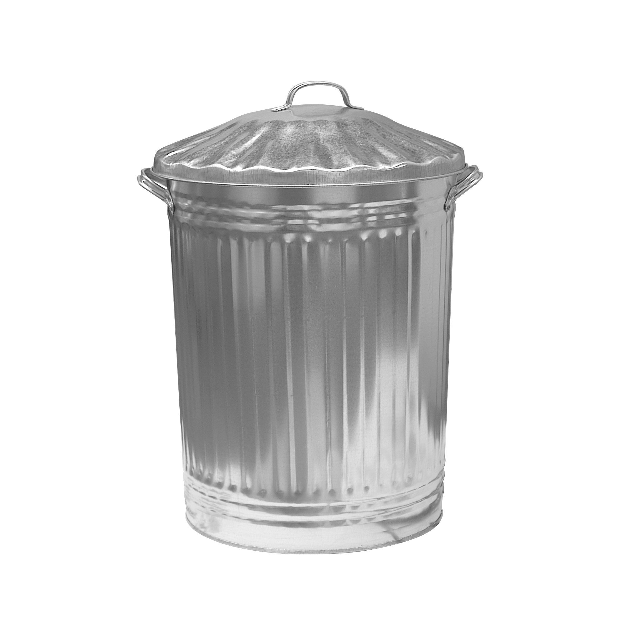 Poubelle Galvanisée Exterieur Parasene Silver Dustbin Departments Diy At B Andq