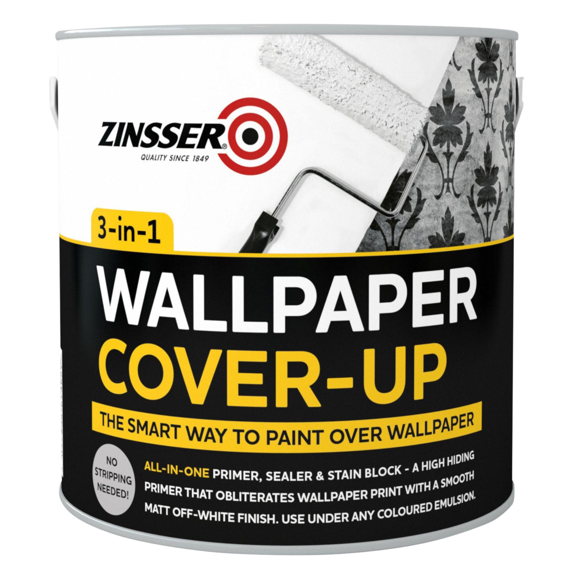 Black Trellis Wallpaper Zinsser B I N Off White Matt Wallpaper Cover Up Paint