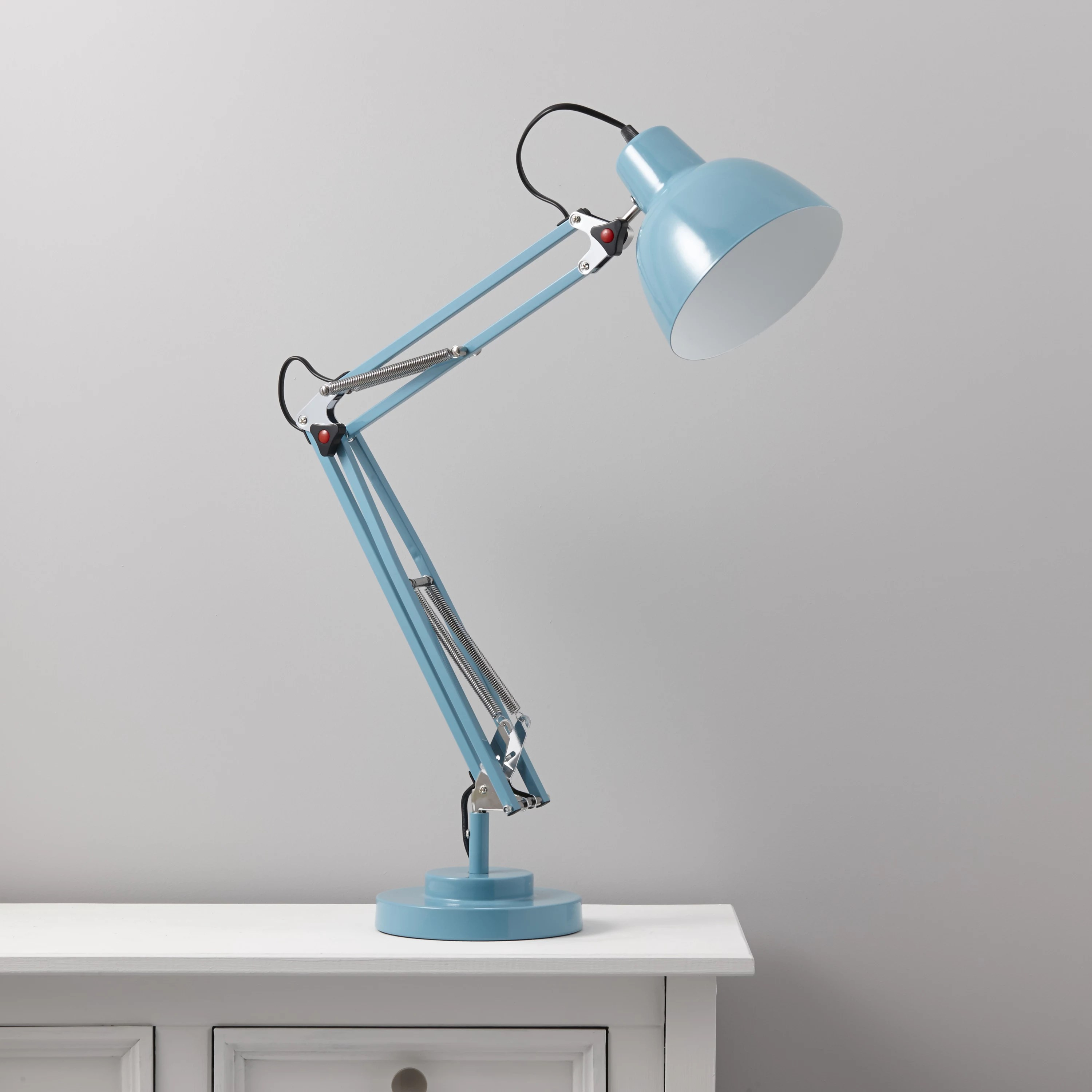 Desk Light Isaac Blue Desk Lamp Departments Diy At B Andq
