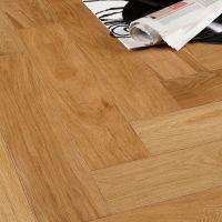 Colours Everetti Herringbone Natural Oak Real Wood Top ...