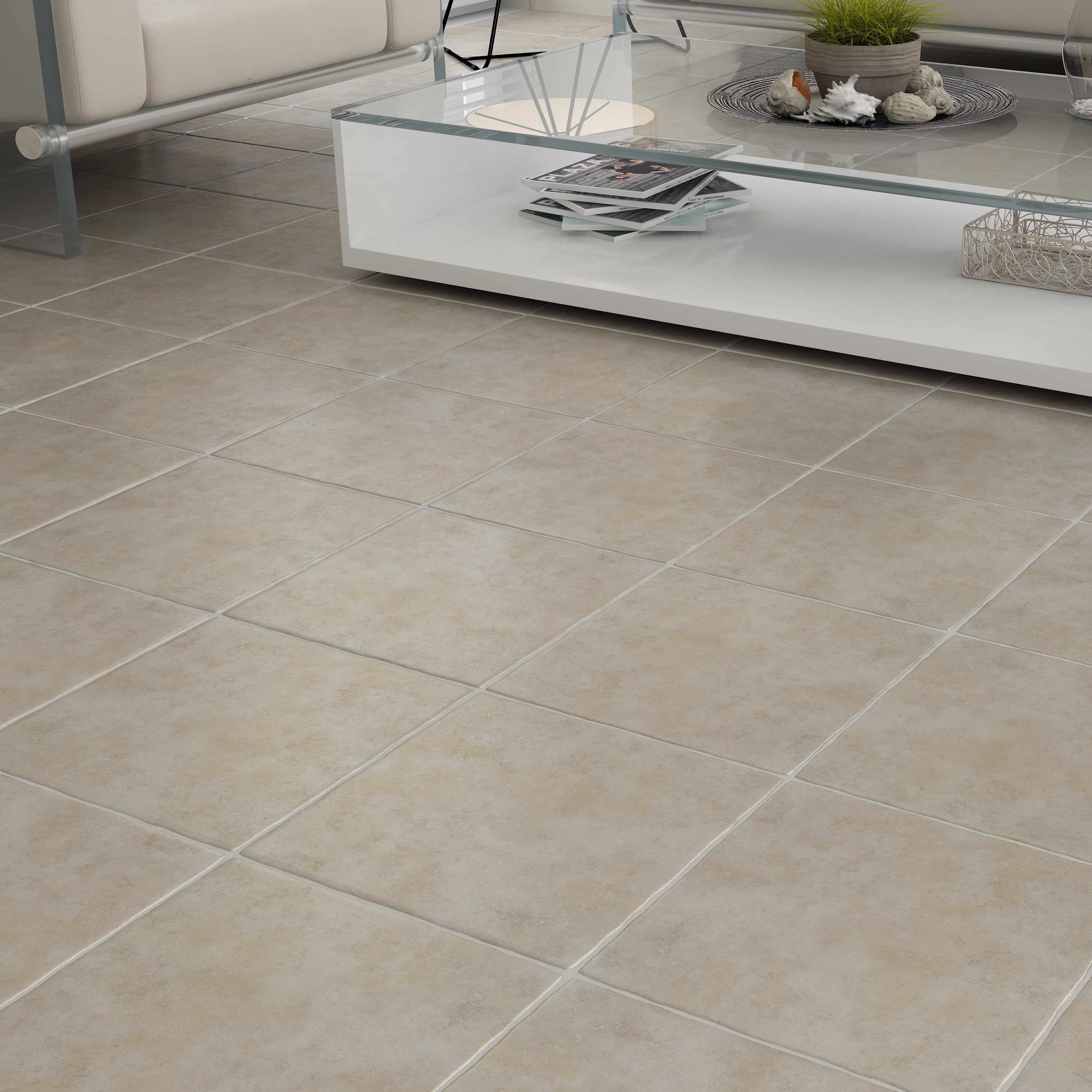 Porcelain Floor Tiles Calcuta Natural Stone Effect Ceramic Floor Tile Pack Of 9