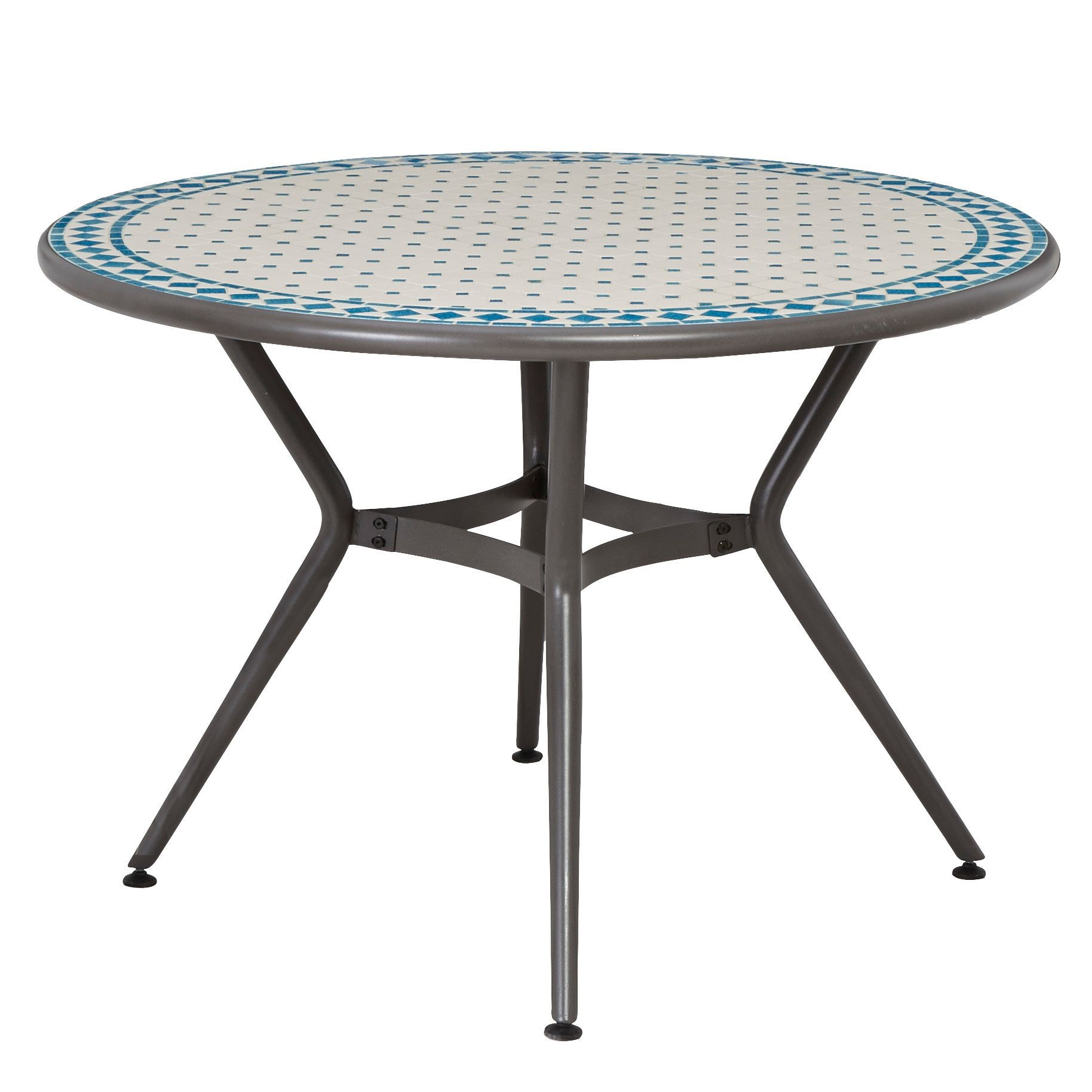 Silene Metal 4 seater Round table
