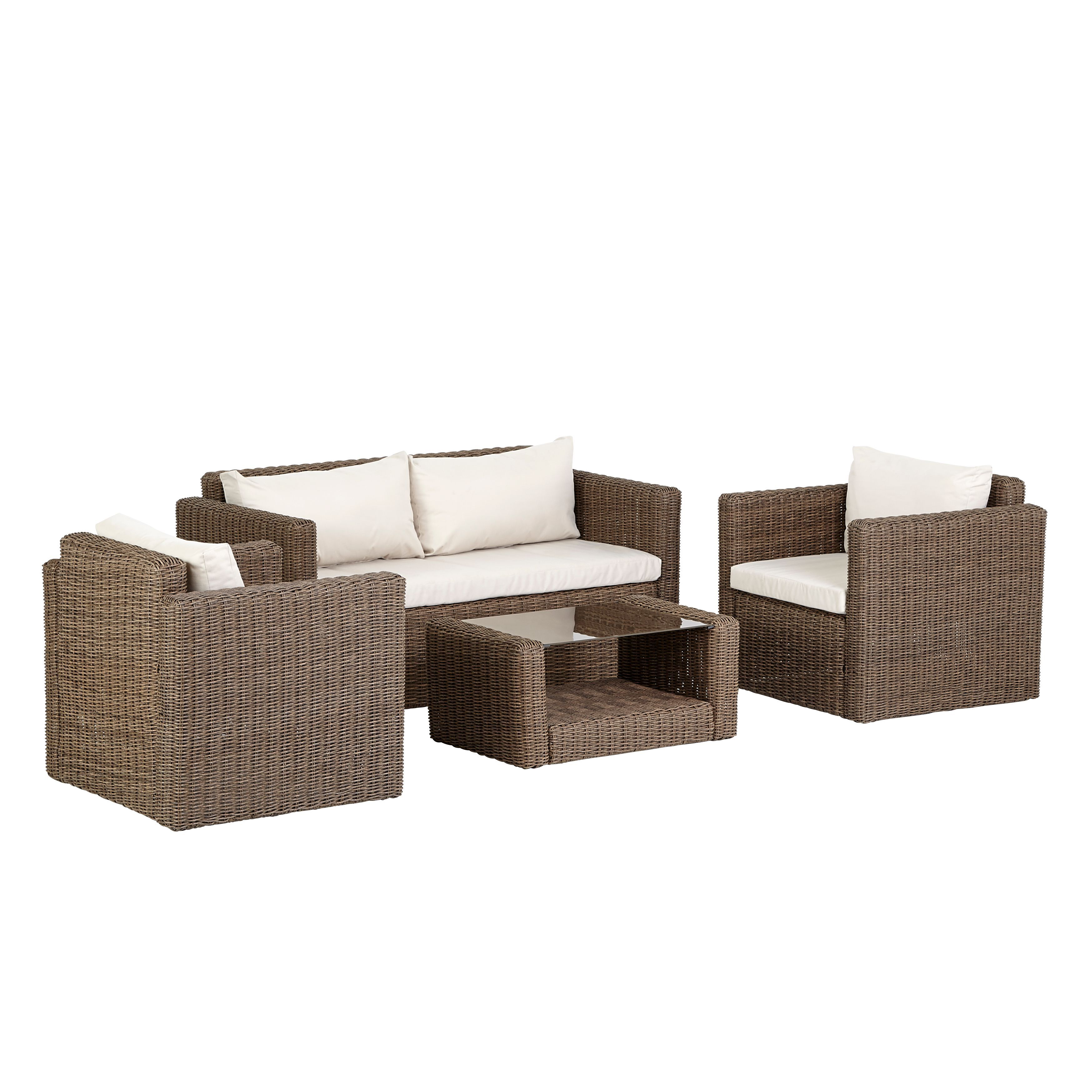 Rattan Effect Recliner Sofa Soron Rattan Effect 4 Seater Coffee Set Departments