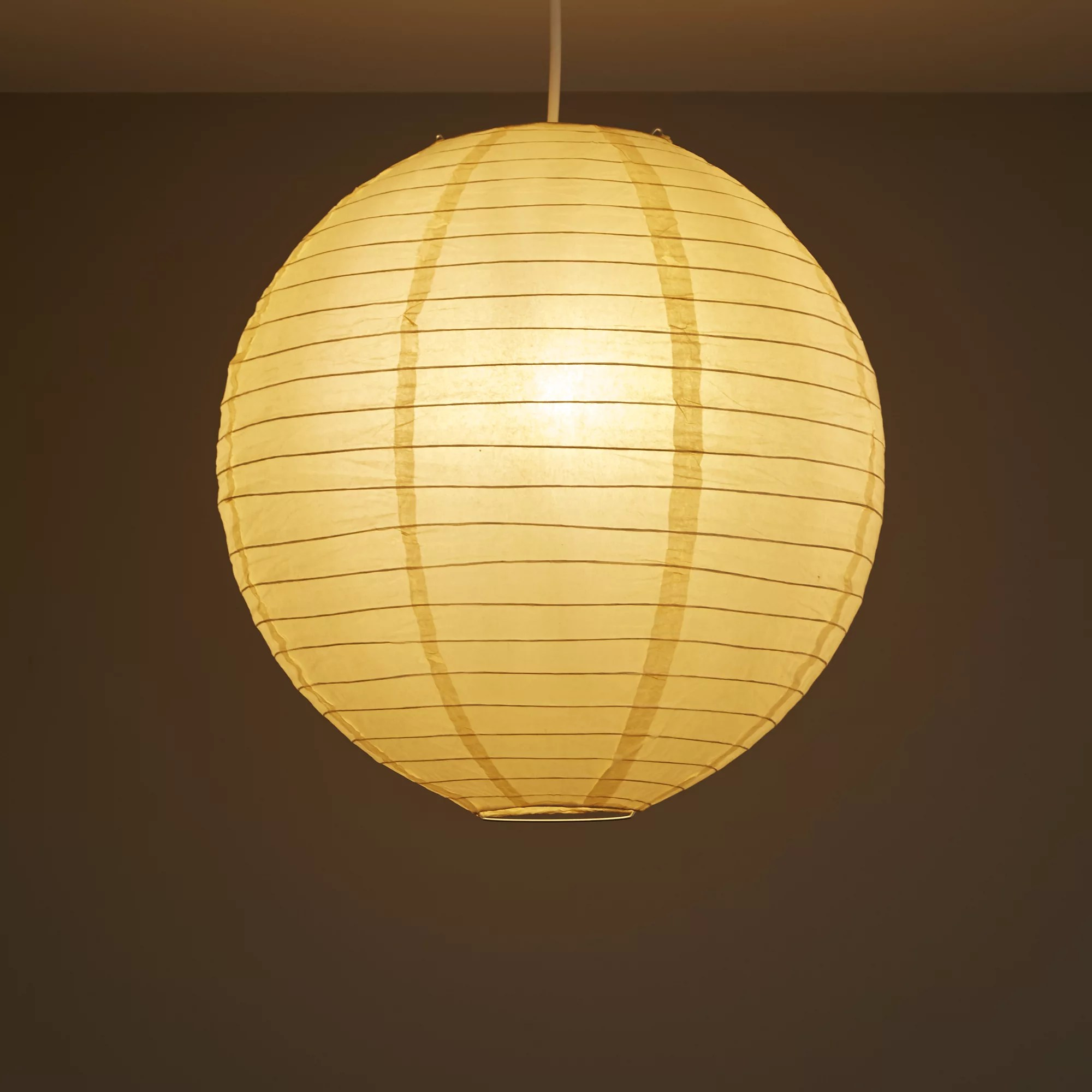 Paper Light Shades Colours Abiola Apricot Ball Light Shade D 400mm Departments Diy At B Q