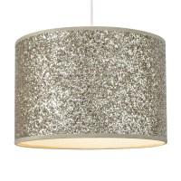 Colours Cirocha Gold Glitter Lamp Shade (D)28cm ...