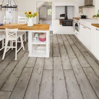 Grey Washed wood effect Waterproof Luxury vinyl click ...