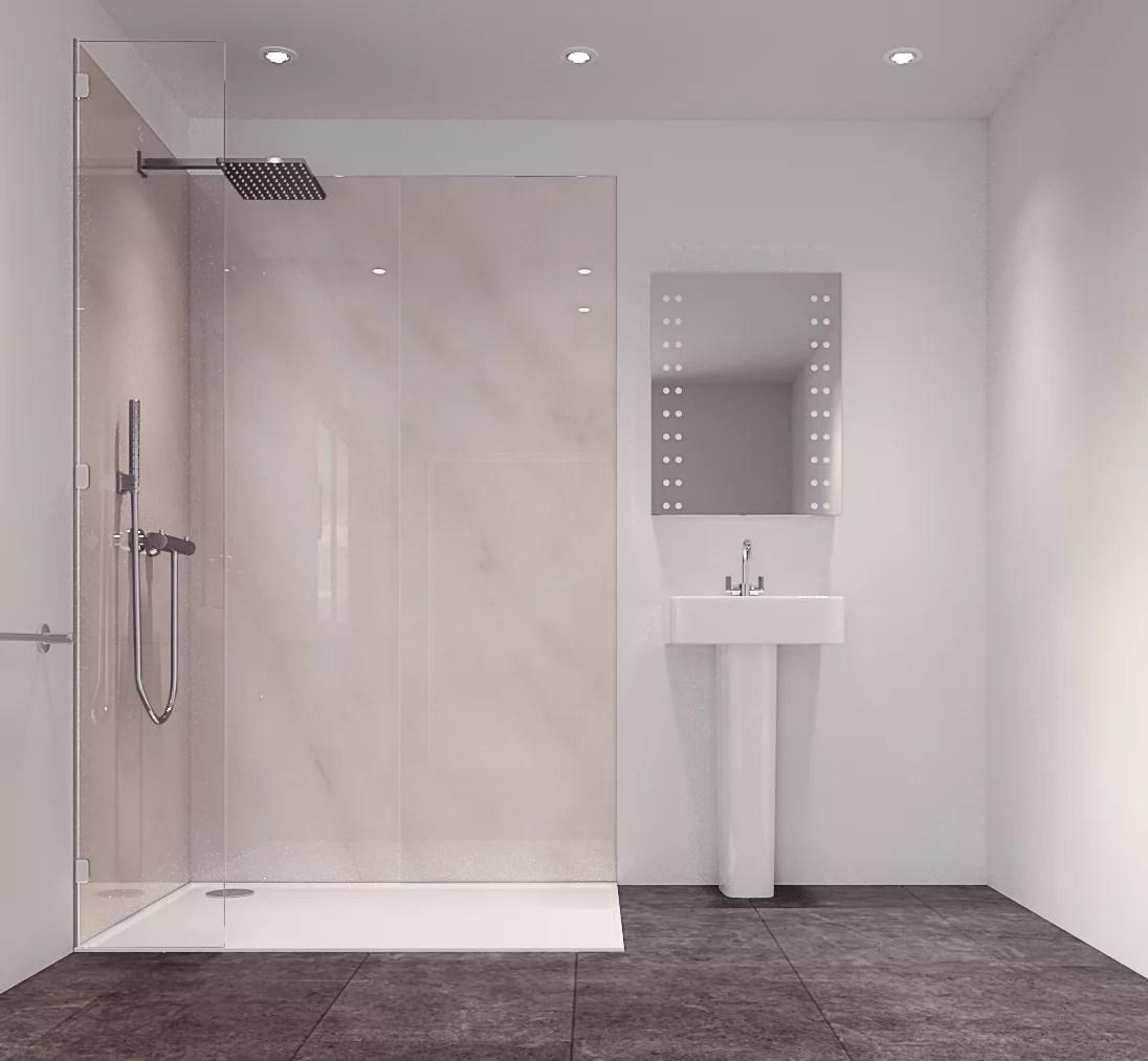 Splashwall Tuscan Grey Single Shower Panel (L)2420mm (W