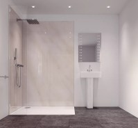 Splashwall Tuscan Grey Single Shower Panel (L)2420mm (W ...