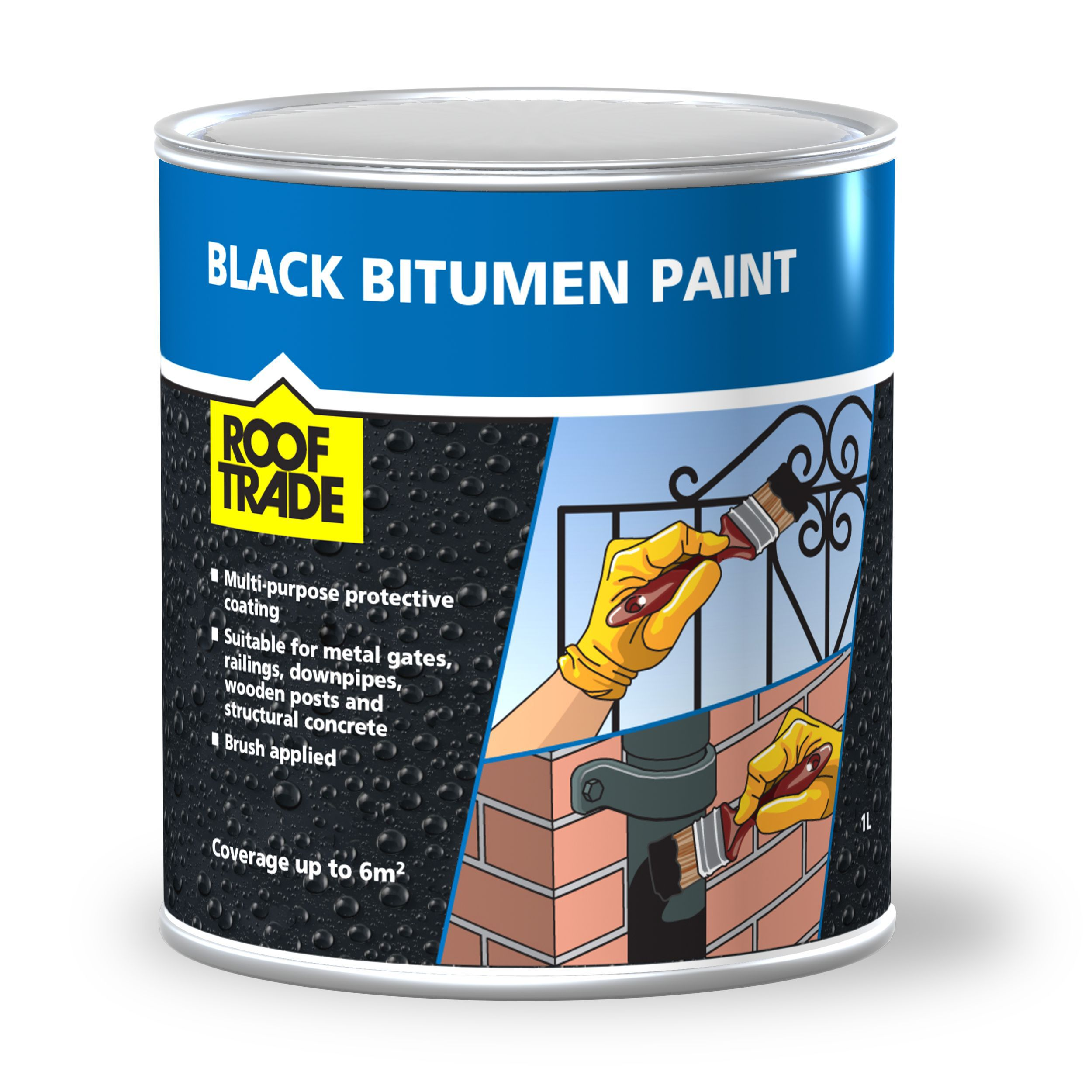 Rooftrade Black Bitumen Paint 1l Departments Diy At B Q - Home Depot Garden Furniture Clearance