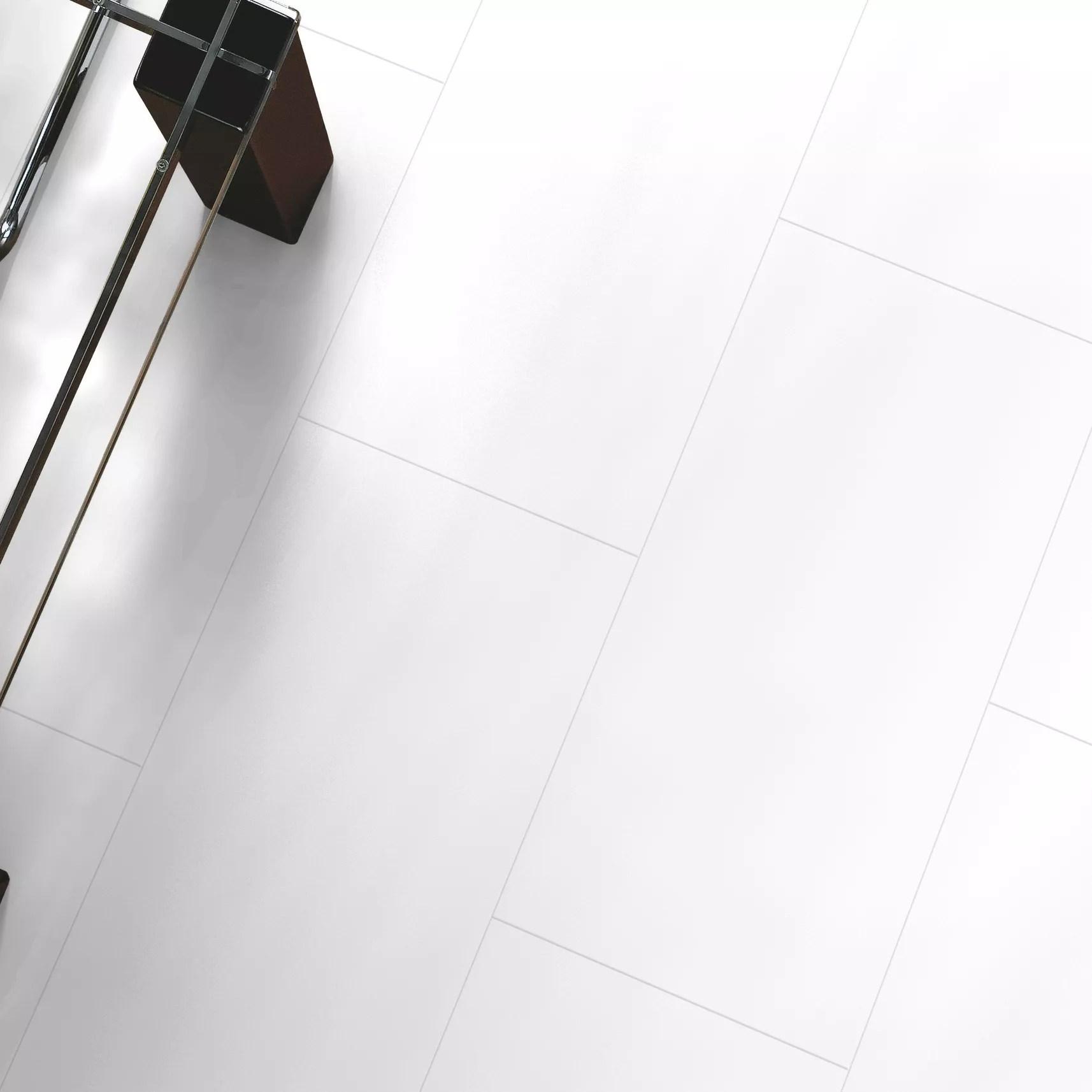 Falsetto White Tile Effect Laminate Flooring 2 M Pack