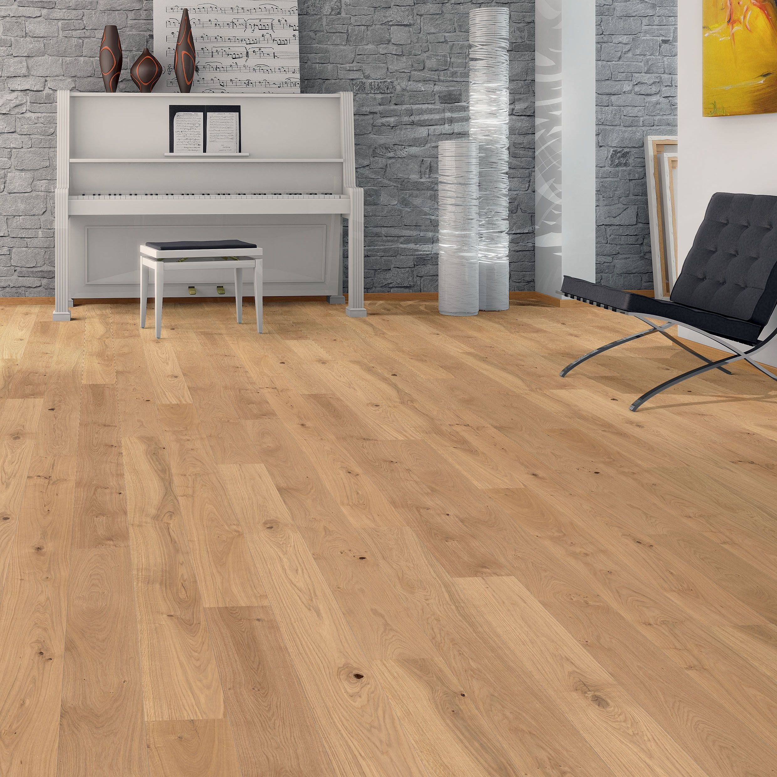 Dielenboden Kueche Erfahrungen Colours Monito Natural Oak Effect Wood Top Layer Flooring