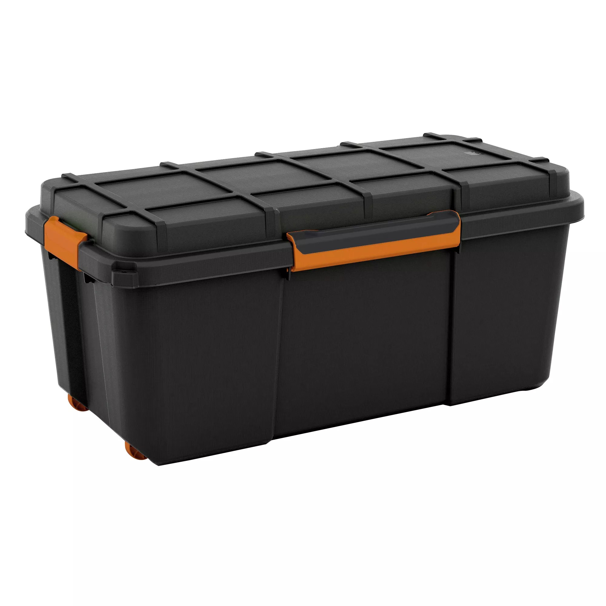 Large Plastic Storage Boxes Form Flexi Store Black Large 74l Plastic Waterproof