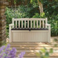 Eden Plastic Garden Storage Bench | Departments | DIY at B&Q
