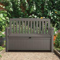 Plastic Garden storage bench box | Departments | DIY at B&Q