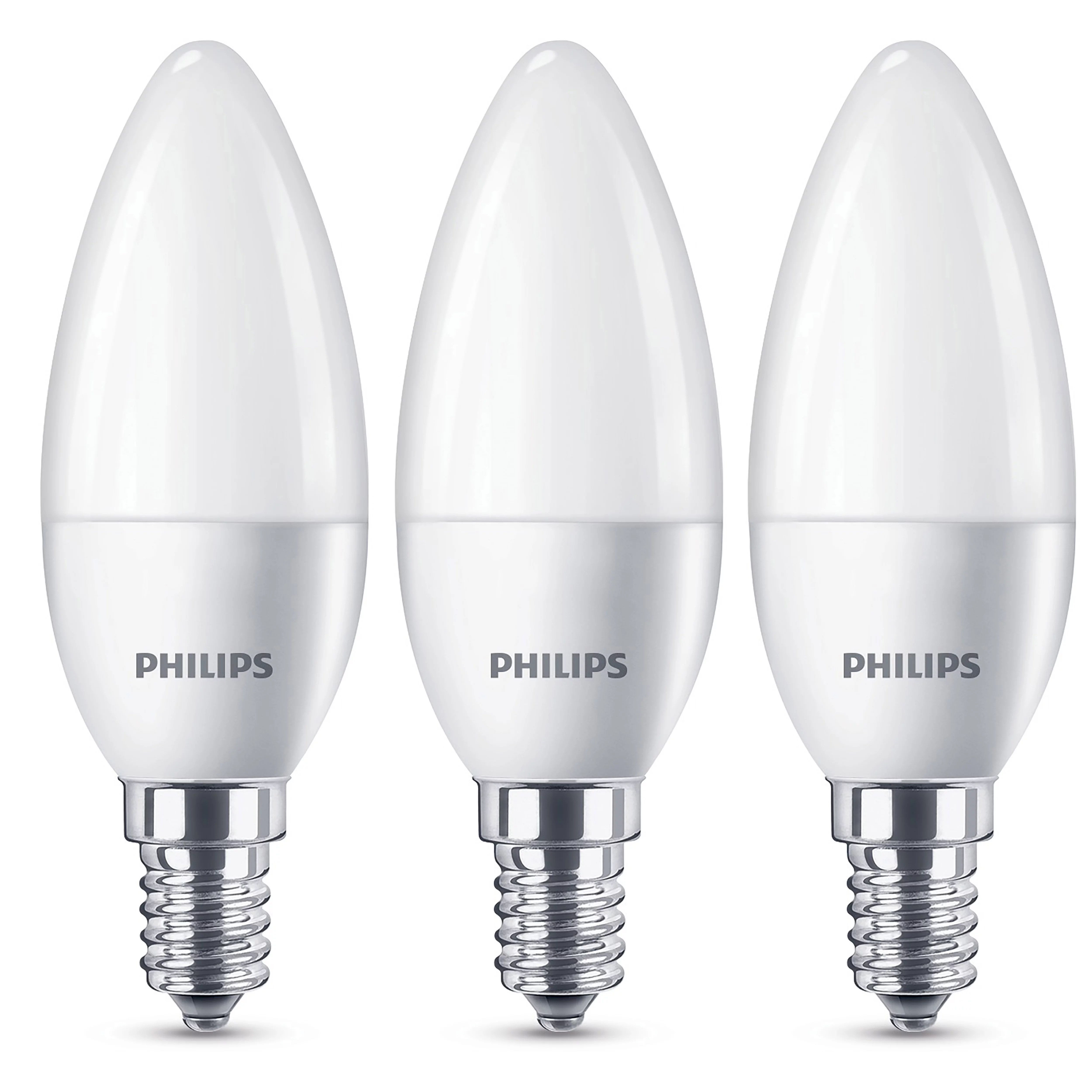E14 Led Philips E14 470lm Led Candle Light Bulb Pack Of 3 Departments Diy At B Q