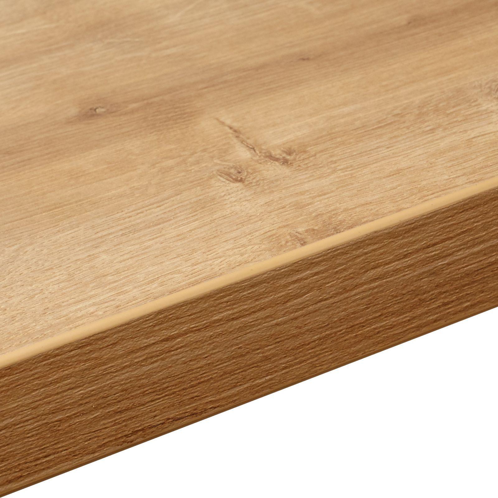 38mm b amp q arlington oak square edge kitchen worktop l 3m