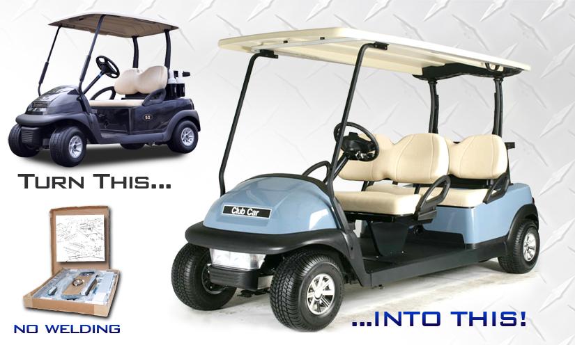 King of Carts Stretch Limo Kit Club Car Precedent Golf Cart Buff