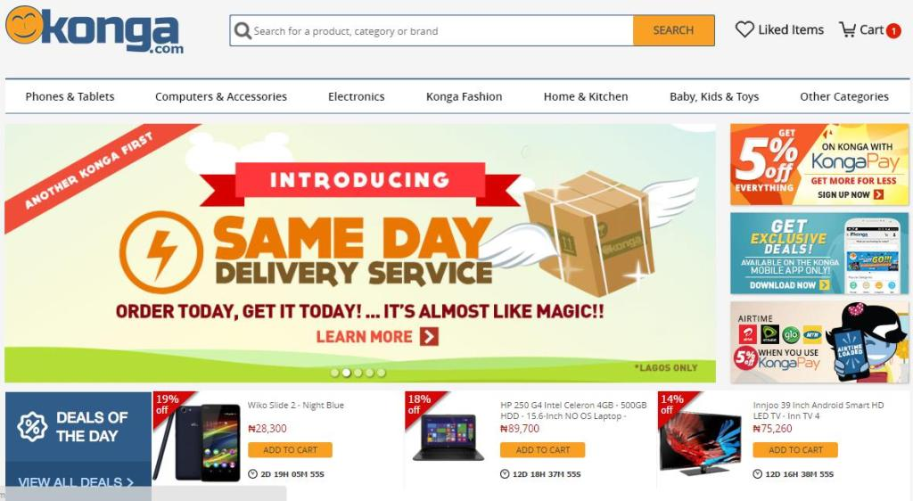 Konga Homepage