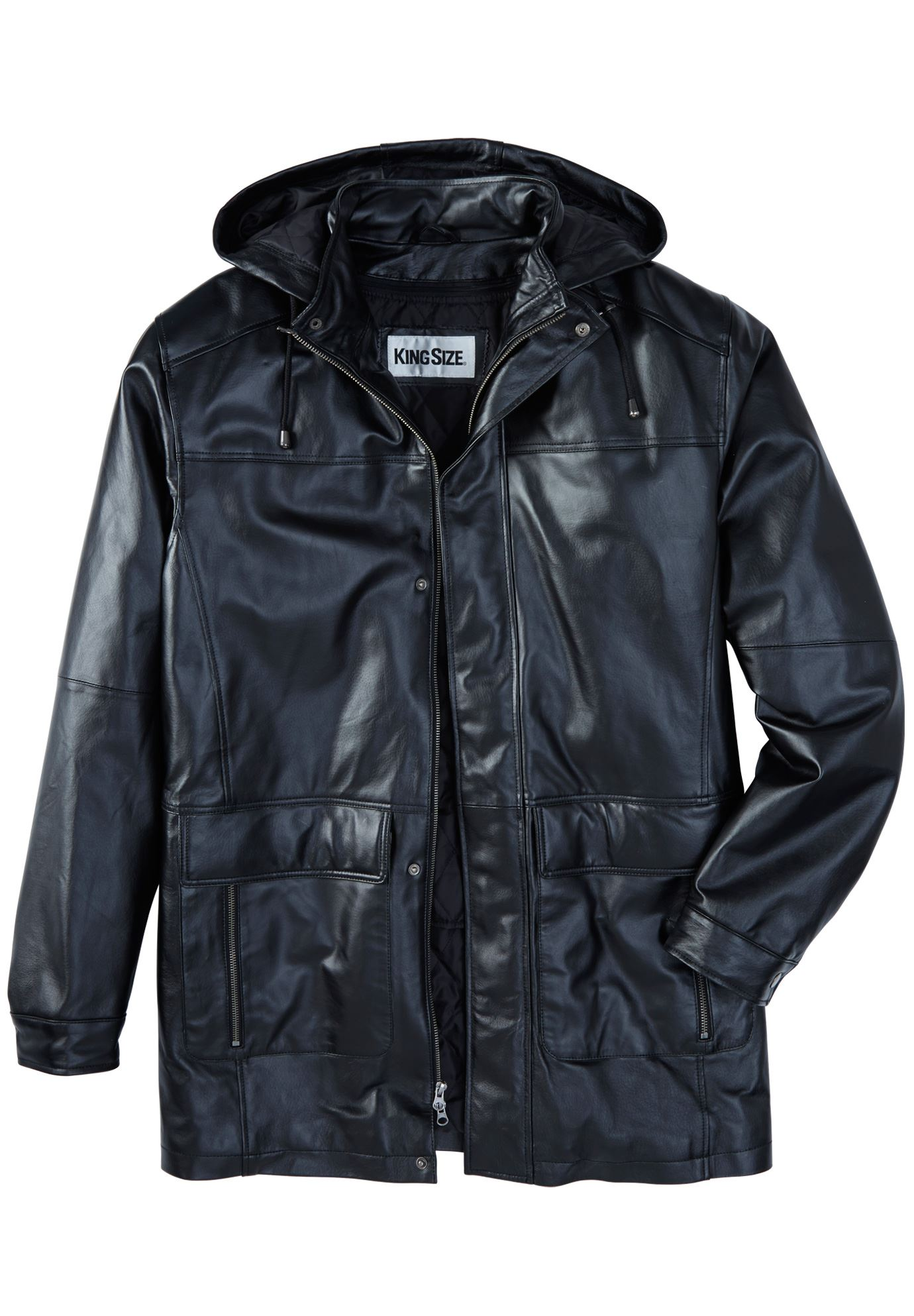 King Size Clothing Leather Parka With Hood Plus Size Coats And Parkas King Size