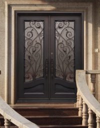 Wrought Iron Steel Entry Doors   Kings Building Material