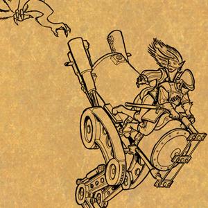 Coalpunk Walker (ink on paper)