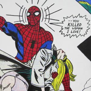 Lichtenstein Spider-Man (acrylic on canvas)