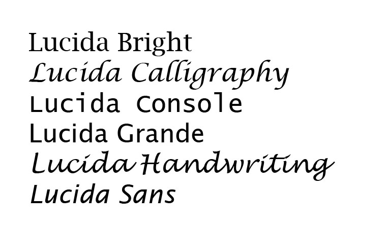 This talented Typographer created the Lucida Font Family with her - graphic design skills resume