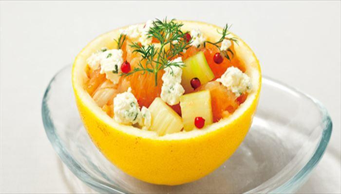 春 料理 グレープフルーツ