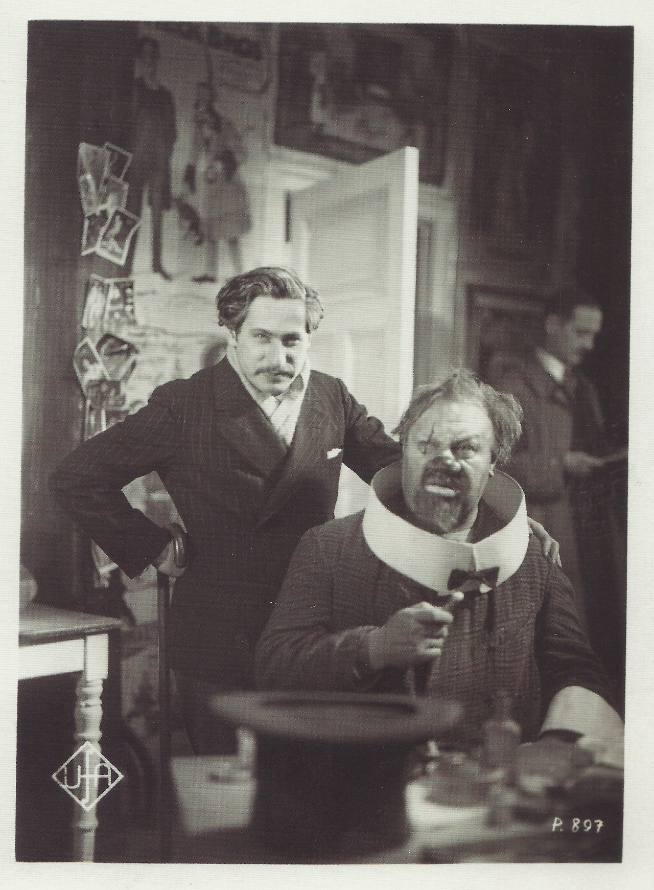 Blau Engel Josef Von Sternberg And Emil Jannings On Set Of Der Blaue Engel