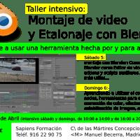 Taller de montaje y etalonaje con Blender en Madrid