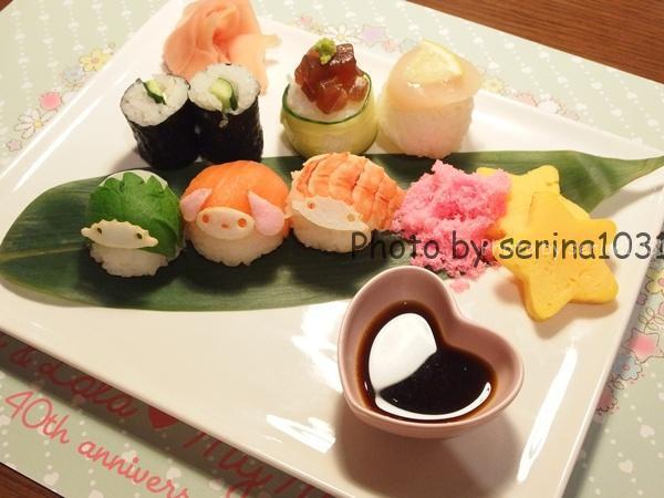 マイメロディ、キキ&ララの彩り手まり寿司