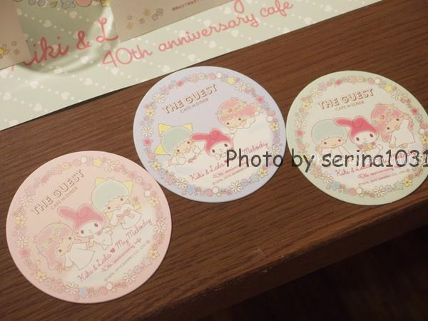 キキ&ララ♥マイメロディ 40th anniversary cafe限定コースター