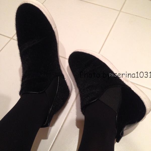 京都紅葉コーデの靴