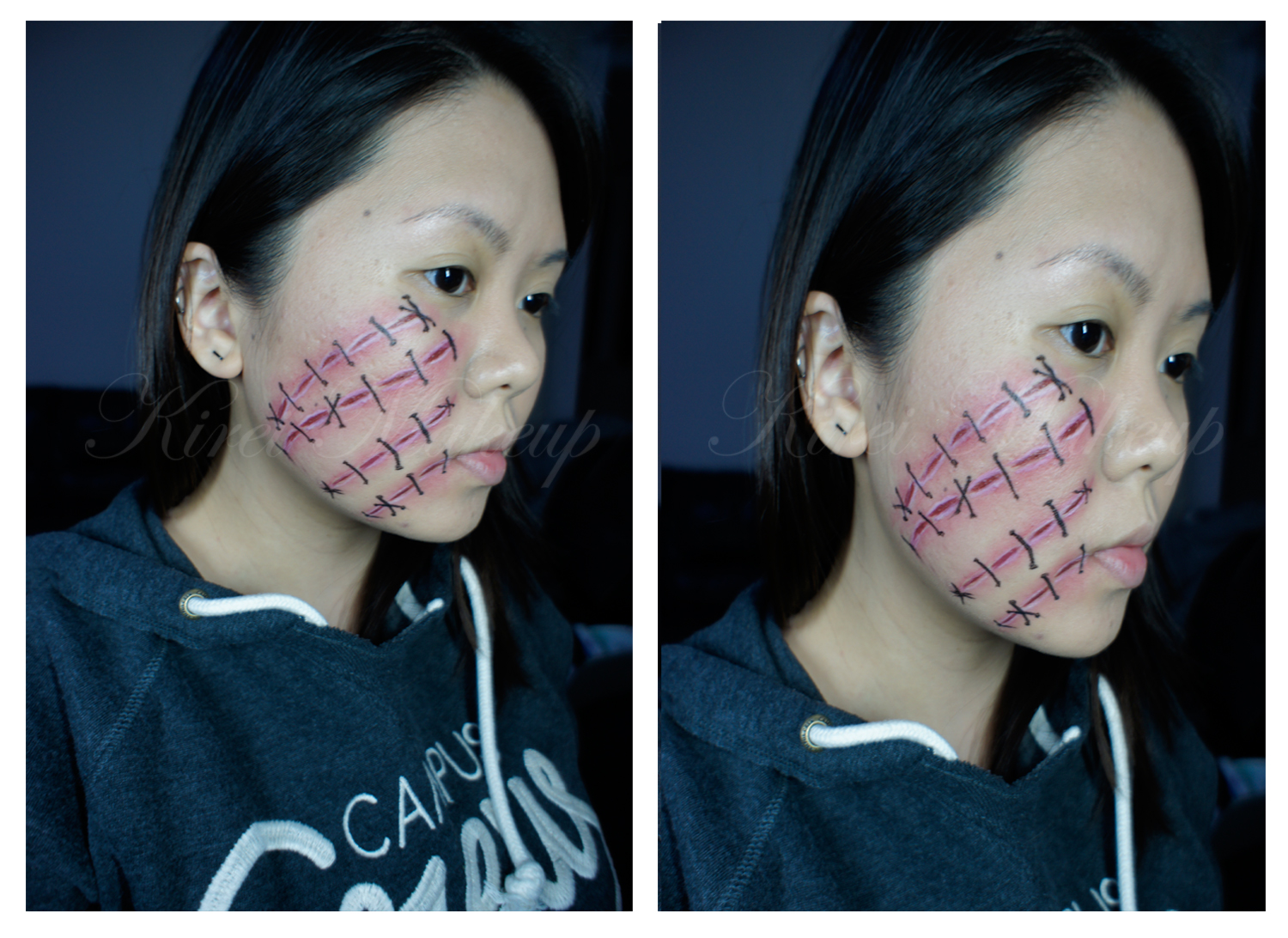 Stitch Halloween Makeup Stitched Up Face Paint Only Kirei Makeup