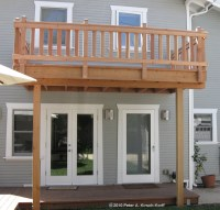 Craftsman Second Story Wood Deck & Porch Railing