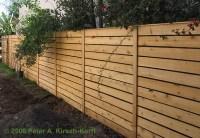 Modern Horizontal Cedar Fence - West LA, Santa Monica ...