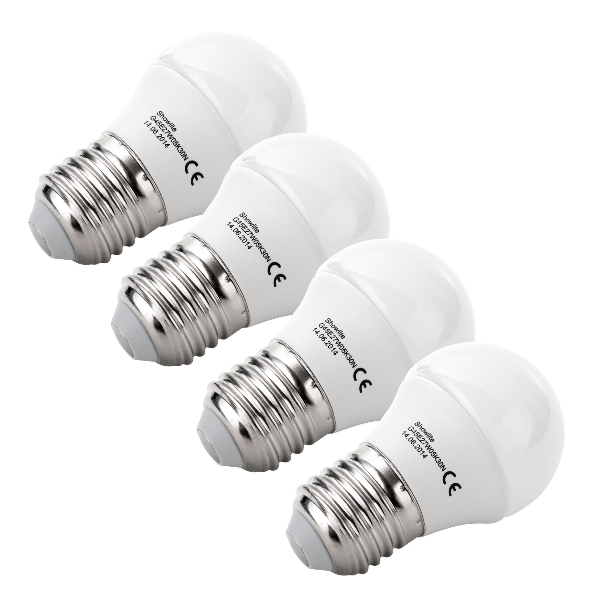 5 Watt Led 4x Set Showlite Led Spotlight G45e27w05k30n 5 Watt 300 Lumen Socket E27 3000 Kelvin