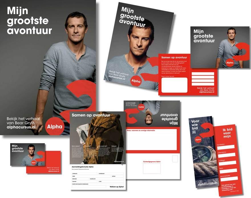 Campagnematerialen voor Alpha Nederland
