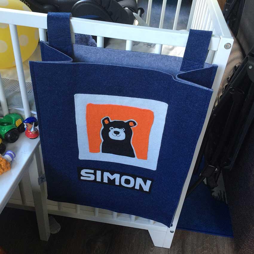 Ik inspireerde ook anderen, mijn moeder maakte de beer in textiel op een boxzak!