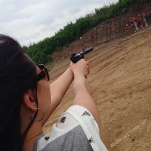 Candace Shooting like a champ