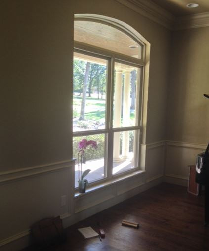 How to install shutters in windows with wainscoting and