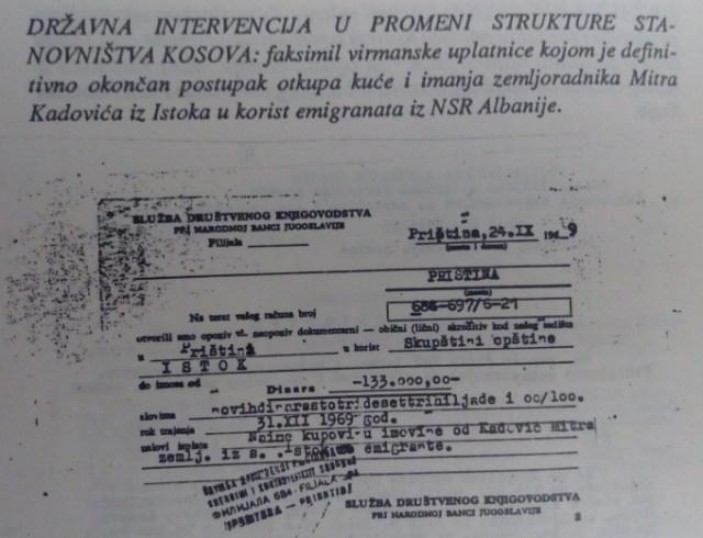 #Kosovo, #Metohija, #Migranti, #Albanci, #Albanija, #Jugoslavija, #Srbija, #Imanja, #Otimanje, #Kupovina,