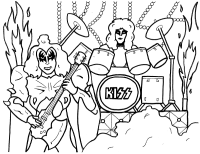 Hershey Kiss Coloring Page