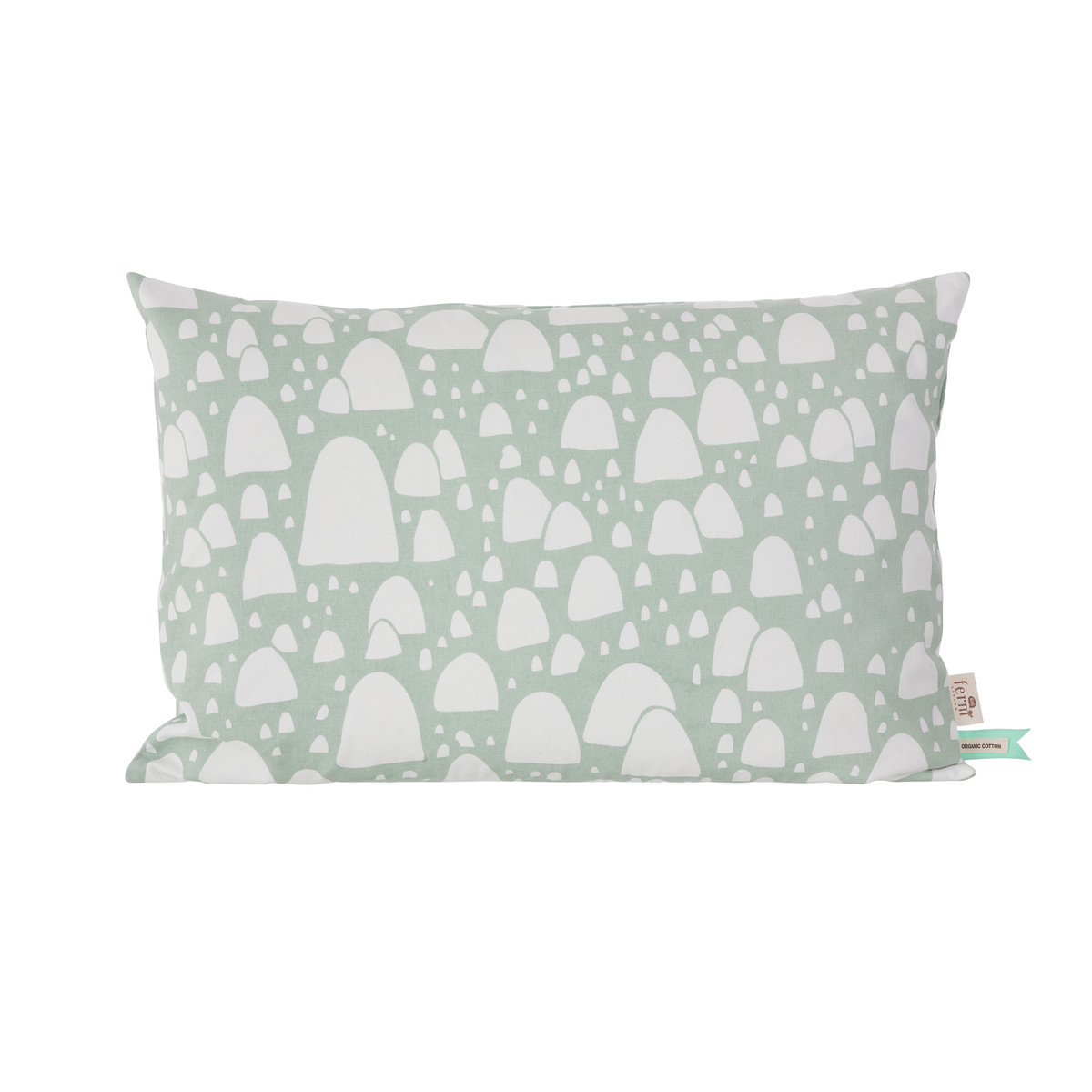 Kopfkissen 60x40 ᐅ Ferm Living Mountain Tops Kissen 60 X 40 Cm Mintgrün Kissenjunkie