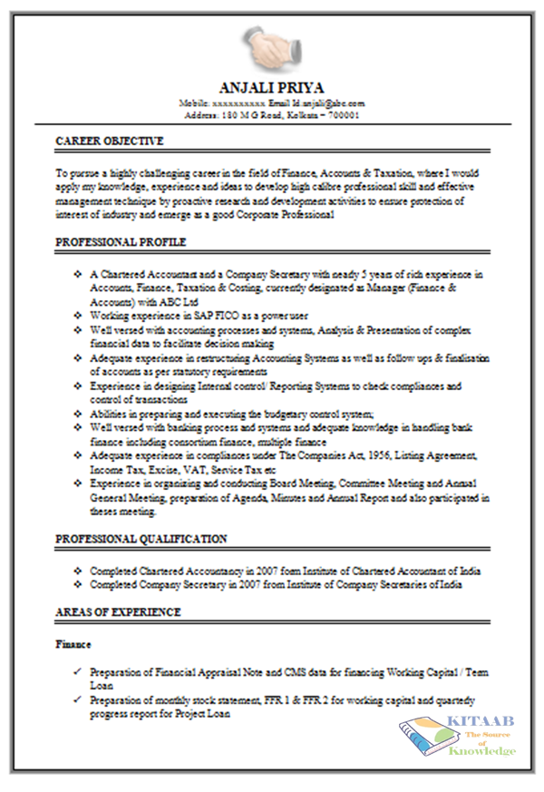 excellent work experience resume sample