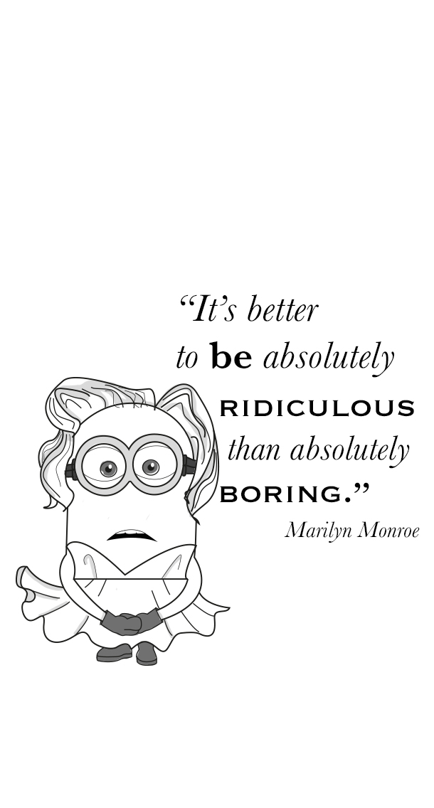 Marilyn Monroe Quotes Iphone Wallpaper Mon Minion Kit By Klo Do It Fun Amp Fashion Montpellier