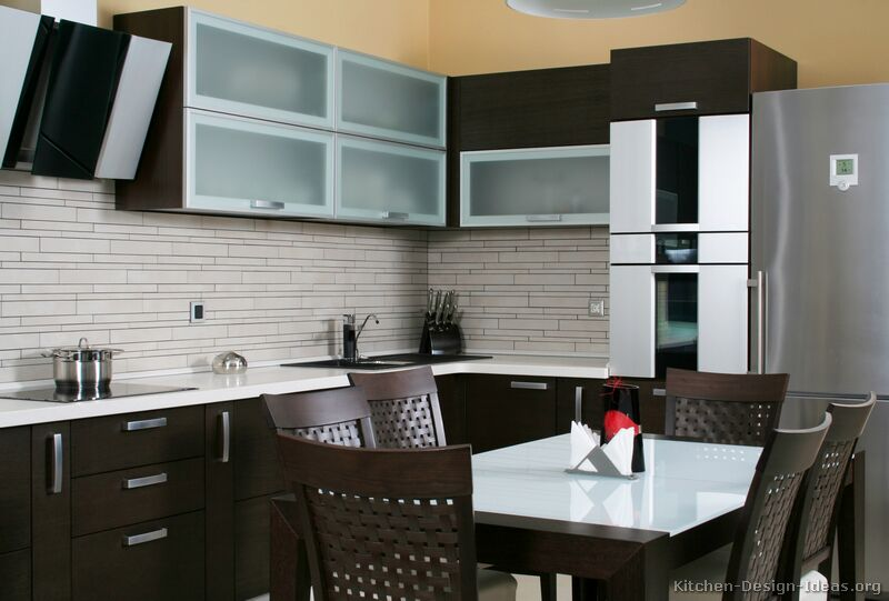 pictures kitchens modern dark wood kitchens kitchen wood backsplash